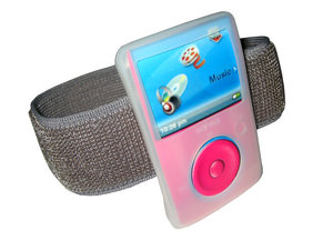 Clear Silicone Skin Case Cover &amp; Sports Armband for SanDisk Sansa Fuze 2gb, 4gb &amp; 8gb + FREE Belt Clip &amp; Lanyard Preview